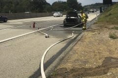 MTVFD and North Hampton VFD Respond to a Car Fire at PA Turnpike Mile Marker 31